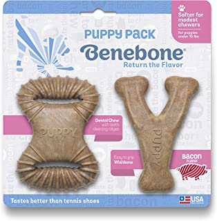 Benebone Puppy Dog Chew Toy, Softer for Modest Chewers, Made in USA