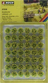 Noch 7036 Grass Tufts Blooming Ylw  G,0,H0,TT,N,Z Scale