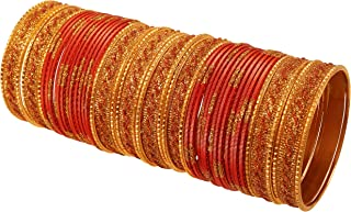 Touchstone Indian Bollywood Awesome Ethnic Style Golden Glitters Sequins Textured Vintage Colors Exotic Designer Jewelry B...