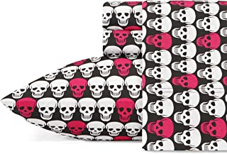 Betsey Johnson Skulls Sheet Set, Queen