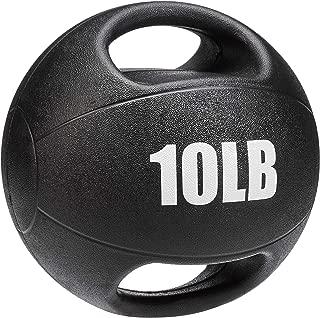 AmazonBasics Medicine Ball with Handles, 10-lb
