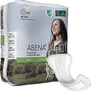 Abena Light Premium Incontinence Pad, Mini 1, 20 Count