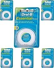 Oral-B Essential - Hilo de menta encerado, 50 m, 6 unidades.