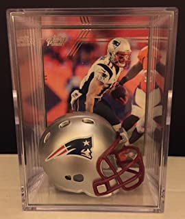 New England Patriots NFL Helmet Shadowbox w/ Julian Edelman card