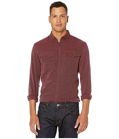 Original Penguin Long Sleeve Jaspe Flannel Shirt (Biking Red) Men