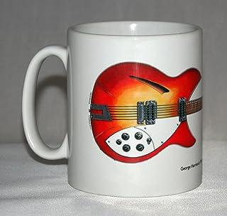 Taza de guitarra. Ilustración de Rickenbacker 360/12 1964 de George Harrison.