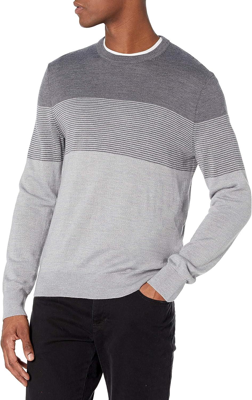 Calvin Klein Excellent Men's Merino Crew Neck Sweater Nashville-Davidson Mall