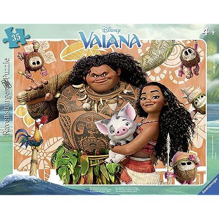 Ravensburger- Disney Vaiana Puzzle Cadre Aventures Vaiana & Maui 35 pièces, 06156