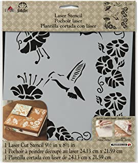Plaid : Craft FolkArt en Plastique Laser Stencil-Hummingbird