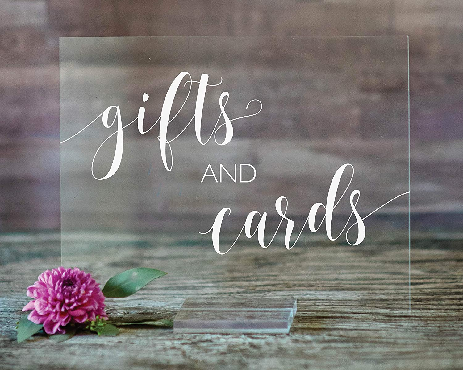 Gifts Limited price sale and Cards Acrylic Sign Base De 8x10 With Direct store Wedding