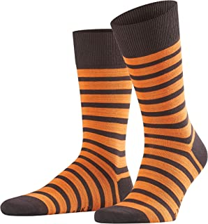 FALKE Men Even Stripe Socks - Cotton Blend, Multiple Colours, UK sizes 5.5-14 (EU 39-50), 1 Pair - Colourful striped sock,...
