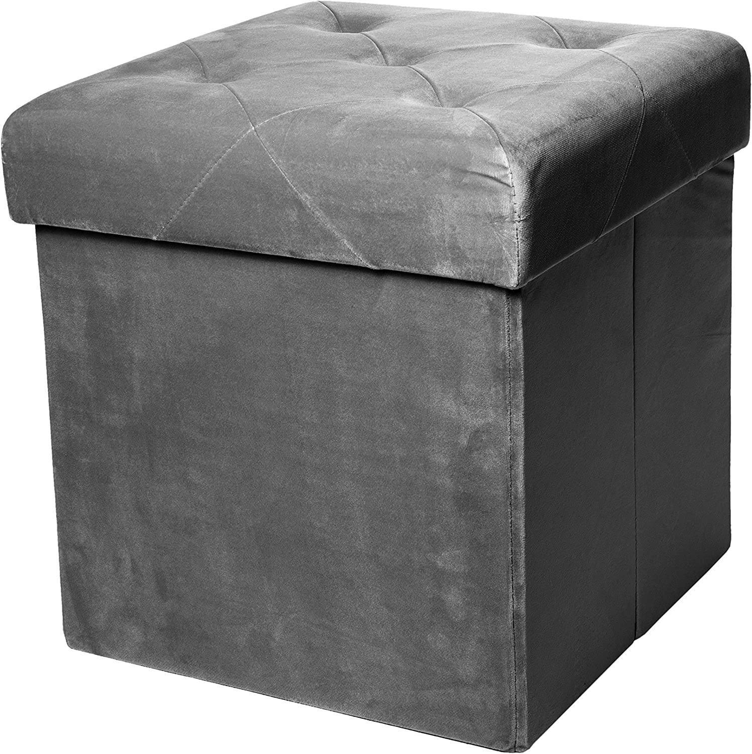 Red Co. Square Luxury Storage Seat with Upholste Ottoman Padded Industry National products No. 1