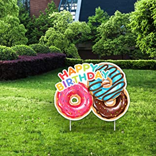 Happy Birthday Donut Yard Sign-Donut Party Supplies Sweet Donut Party Decoration Happy Birthday Kids Party Favor Ideas Sup...