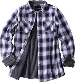 Women's Thermal Fleece Lined Plaid Button Down Flannel Shirt Jacket