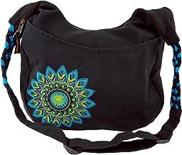 Sac Sadhu Mixte Adulte Marron 36x38x10 cm sac /à Bandouli/ère Goa Coton sac Hippie Guru-Shop Sac Brod/é Sadhu