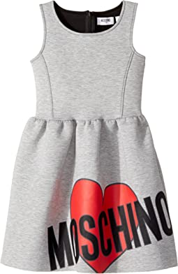 Moschino Kids - Sleeveless Neoprene Heart Logo Dress (Little Kids/Big Kids)