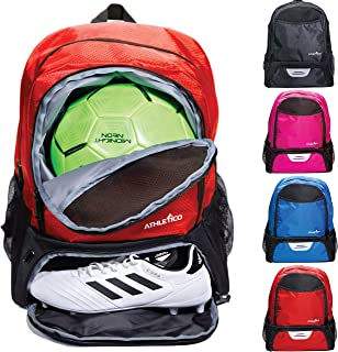 Youth Soccer Bag - Soccer Backpack & Bags for Basketball, Volleyball & Football | Includes Separate Cleat and Ball Compartment