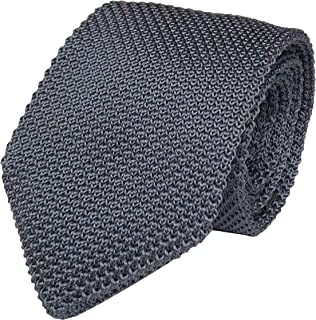 "Men's Skinny Knit Tie Vintage Mixed Pattern Casual 2.4"" Necktie - Various Colors"