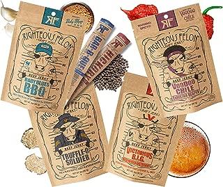 Righteous Felon Beef Jerky Bundle - Favorites Beef Jerky Sampler - Craft Beef Jerky & Meat Sticks - High-Protein, Low-Sugar Healthy Snacks - Beef Jerky (Pack of 4) & Beef Jerky Sticks (Pack of 2)