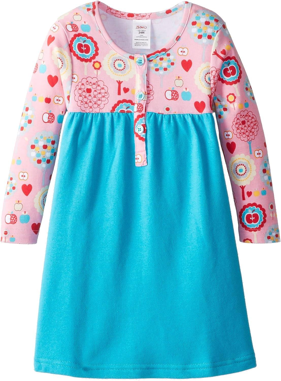 Zutano Rare Dallas Mall Baby Girls' Apple Henley Tree Dress