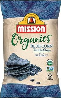 Mission Organics Blue Corn Tortilla Chips | Gluten Free, Non GMO Snacks | 9 oz