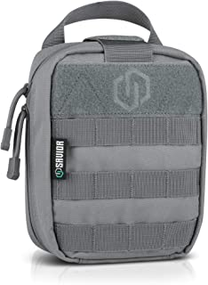 Savior Equipment Tactical Rip-Away Medical IFAK First-Aid Kit MOLLE Pouch Multi-Purpose EDC Tool Utility Organizer Attach on Backpack Belt Waist Bag