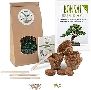 Bonsai Kit incl. eBook GRATUITO - Set con macetas de coco,