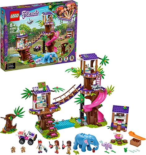 new arrival LEGO Friends Jungle Rescue Base 41424 outlet online sale Building Toy for Kids. Playset Includes a Jungle Tree House; Adventure Fun Toy Comes wholesale with 2 Elephant Figures and Lots of Animal Rescue Kit, New 2020 (648 Pieces) online