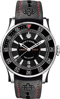[クエルボ・イ・ソブリノス]Cuervo y Sobrinos 腕時計 紳士用 ダイバー 2808-1NR3 メンズ 【正規輸入品】