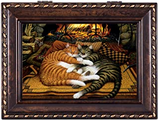 Image of Cozy Fireside Cat Music Box