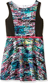 Pippa & Julie Big Girls' Sleeveless Colorblock Dress