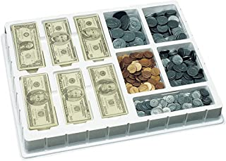 Educational Insights Play Money Coins & Bills Deluxe Set, Ages 5 and Up, (750 pieces and Deluxe Storage Tray)