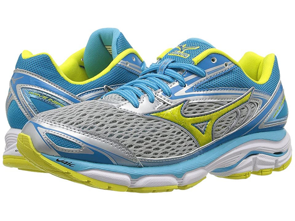 Mizuno Wave Inspire 13 (High-Rise/Bolt/Blue Atoll) Girls Shoes