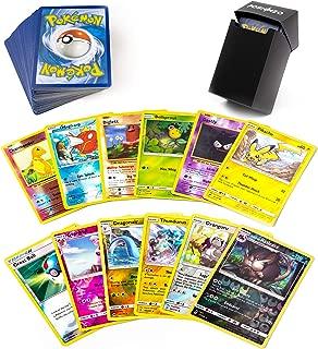 100 Pokemon Cards 12 Foil Holos Included Plus Poshinzo Card Box