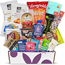 High Protein Fitness Healthy Snack Box: Premium Mix of Healthy Gourmet Protein Snacks On The Go Meal Replacements, Perfect...