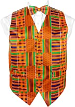 Vittorio Farina African Kente Print, Vest Set
