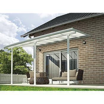 Chalet-Jardin Terraza de Aluminio Techo Aurora Blanco 4 x 3 m, 3x4 ...