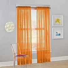 Best bright orange curtain panels Reviews