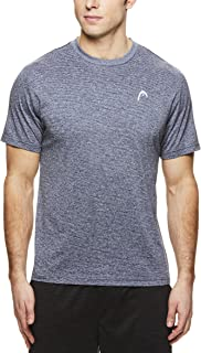 HEAD Men's Olympus Striped Hypertek Gym Training & Workout T-Shirt - Short Sleeve Activewear Top
