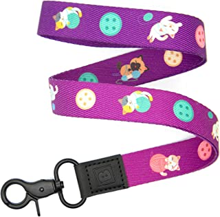 Cats Playing with Yarn Themed Lanyard by BadgeZoo