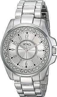 XOXO Women's Analog-Quartz Watch with Alloy Strap, Silver, 20 (Model: XO209)