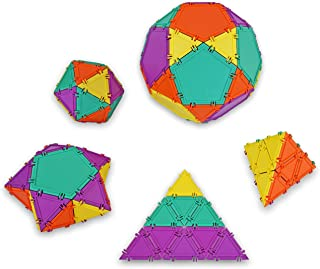 Geometiles 3D Building Set for Learning Math, Includes Many Online Activities, 32-pc, Made in USA (Pentagon/Triangle)