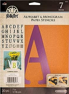 FolkArt 50317 Stencil Paper, Alphabet & Monogram Serif 7