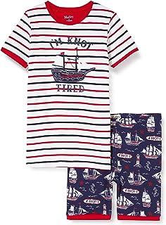 Hatley Organic Cotton Short Sleeve Appliqué Pyjama Sets Pigiama Bambino