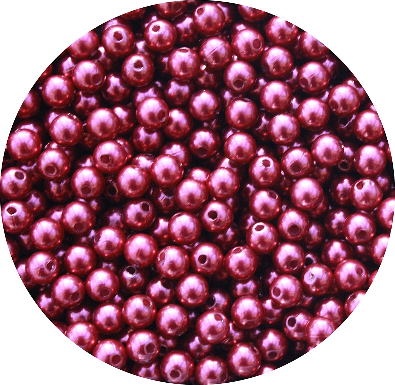 250 X 6mm Wine Crymson rot rot rot Acrylic Faux Pearl Jewellery Making Beads B009RTL62Q | Angenehmes Gefühl  901bca