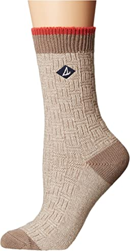 Sperry - Basket Weave Slub Sweater Weight Boot Crew