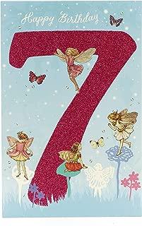 Flower Fairies Age 7 Girls Birthday Card