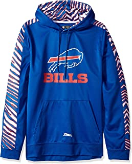 Zubaz Men's Buffalo Bills, Pullover Hood, Large