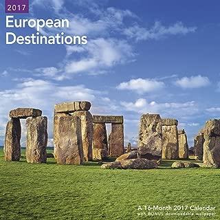 2017 European Destinations Wall 16-month Wall Calendar