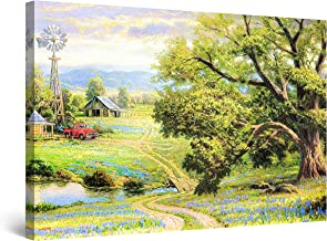 Startonight Canvas Wall Art Abstract Painting - Abstract Meditation 80 x 80 cm